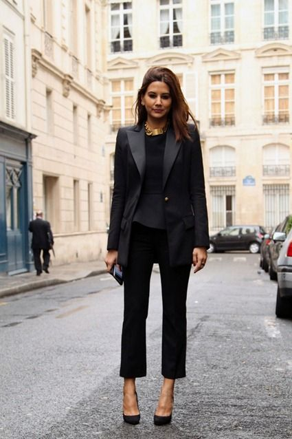 tailored pant, black pants, fashion, street style